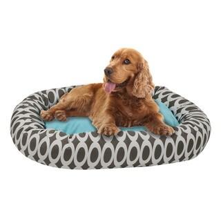 EZ Living Home Orbits Print Cotton Reversible Donut Pet Bed