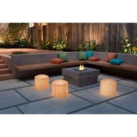 Zuo Wassu Outdoor Illuminated Yellow Stool