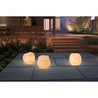 Zuo White Wood Illuminated Stool