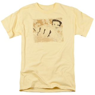 Boop/Can Can Short Sleeve Adult T-Shirt 18/1 in Banana