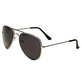 Mechaly Unisex Silvertone Plastic Classic Aviator Sunglasses
