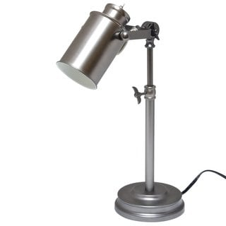 Light Accents Nickel-finished Metal Antique-style Desk Lamp