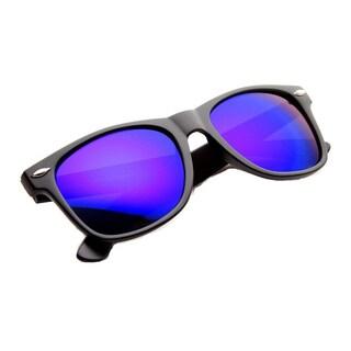 Mechaly Classic Wayfarer Unisex Black Mirror Sunglasses