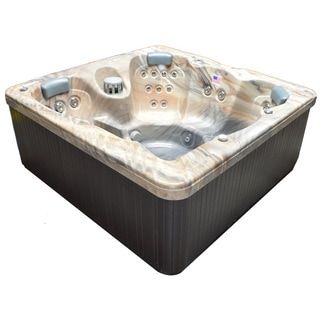 Home and Garden Spas Brown 5-person 30-jet Spa with Perimeter LED Lighting