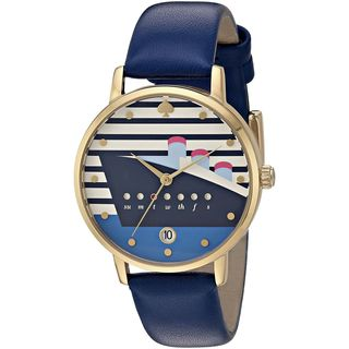 Kate Spade Women's KSW1138 'Metro' Sail Away Blue Leather Watch