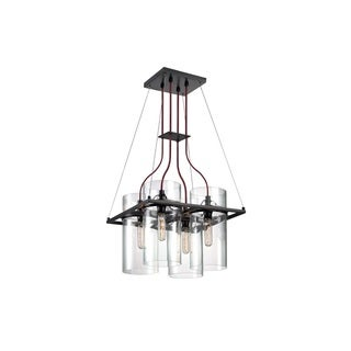 Sonneman Lighting Square Ring 4-light Satin Black Square Pendant