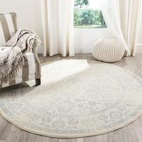 Safavieh Adirondack Dakota Ivory / Slate Grey Distressed Rug - 8' x 8' Round