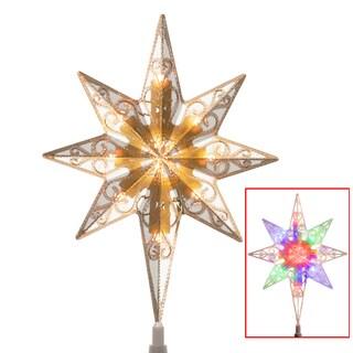 Christmas Tree Top Star With Dual Color Lights