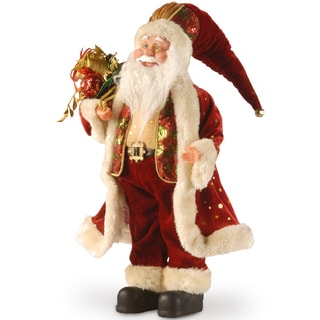 18-inch Plush Collection Burgundy Santa