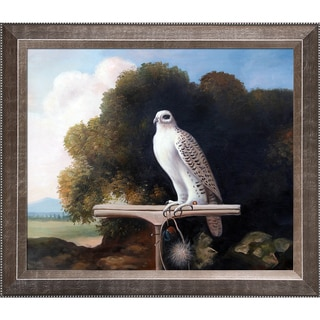 George Stubbs 'Greenland Falcon' Hand Painted Framed Canvas Art