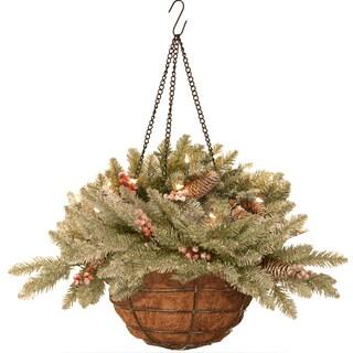 Dunhill Fir 20-inch Hanging Basket LED Lights