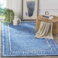 Safavieh Adirondack Vintage Light Blue/ Dark Blue Rug - 4' x 4' Square