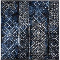 Safavieh Adirondack Vintage Boho Silver/ Black Rug - 4' x 4' Square
