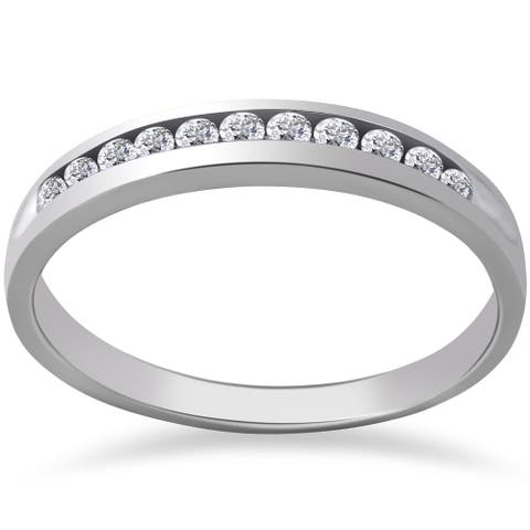 14k White Gold 1/4 ct TDW Eco Friendly Lab Grown Diamond Wedding Stackable Ring