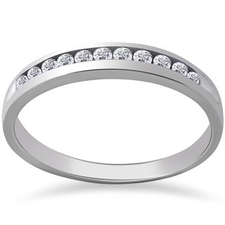 14k White Gold 1/4 ct TDW Eco Friendly Lab Grown Diamond Wedding Stackable Ring