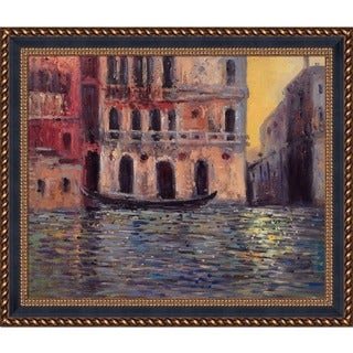 Claude Monet 'Palazzo Dario 3, 1908' Hand Painted Framed Canvas Art
