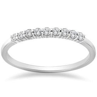 14k White Gold 1/4ct TDW Eco Friendly Lab Grown Diamond Wedding Stackble Ring (F-G, SI1-SI2)