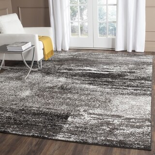 Safavieh Adirondack Modern Abstract Silver/ Black Rug (4' Square)