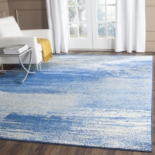 Safavieh Adirondack Modern Abstract Silver / Blue Rug (10' Square)