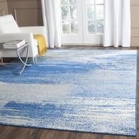 Safavieh Adirondack Modern Abstract Silver/ Blue Rug - 10' square