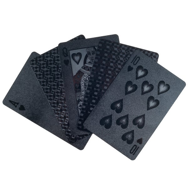 Trademark Poker Devil Black Embossed Playing Cards