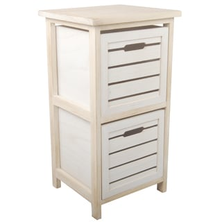 White Wood 12.5 inches x 12 inches x 24 inches Shelf Drawer