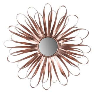 Roselle Brown 16-inch Diameter Ribbon Wall Mirror