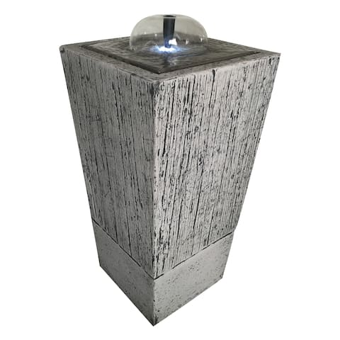 A&B Home Grey Glass/Stone Indoor Rock Fountain