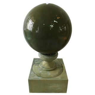 Green Glass 26-inch Diameter x 47-inch High Misty Fountain