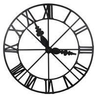 Black Iron 46-inch x 46-inch x 3-inch Faux Wall Clock
