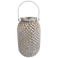 Silver Glass 4-inch x 8-inch Tea Light Candle Holder