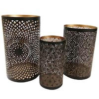 Brown Iron Candle Holders (Pack of 3)