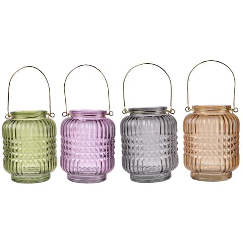 4-inch x 5-inch Glass Candle Holders (Set of 4)