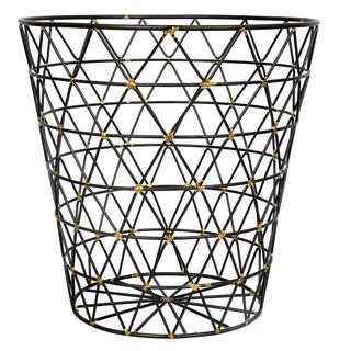Leonora Goldtone Iron 12-inch x 12-inch Diameter Wire Basket