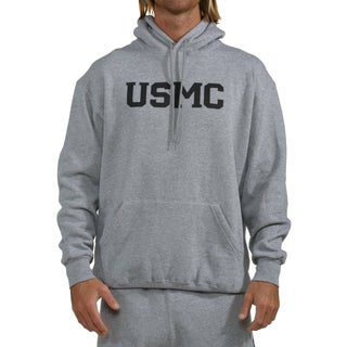 High Performance Grey USMC Hoodie with Pouch