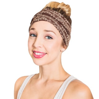 Women's Organic Cotton Fleece Om Printed Active Headband (Nepal)