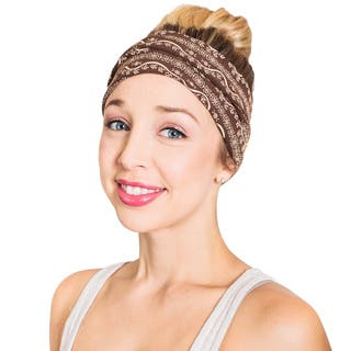 Handmade Women's Organic Cotton Fleece Om Printed Active Headband (Nepal)|https://ak1.ostkcdn.com/images/products/12653099/P19441748.jpg?impolicy=medium