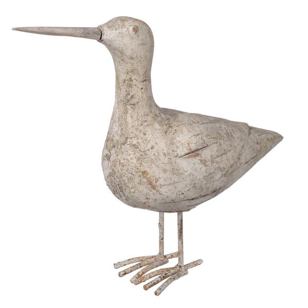Off-white Cement/Resin 12-inch x 4.5-inch x 10-inch Seabird Figurine