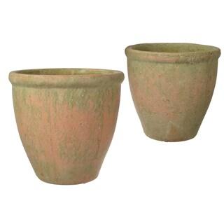 Tan Ceramic Planters (Set of 2)