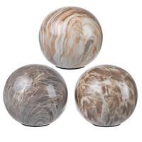 Glossy Decorative Ceramic Balls (Set of 3)