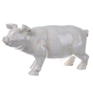 White Ceramic Pig