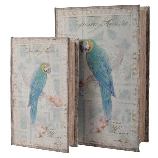 Parrot Bird Book Boxes (Set of 2)