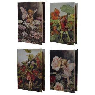 Flori Multicolor MDF and Fabric 5.5 inches x 3.5 inches Book Boxes (Set of 4)