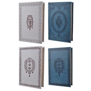 Turin Classics White/Blue MDF 4-piece 10-inch x 6.5-inch x 2-inch Book Box Set