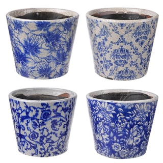 Blue Clay 5-inch Planter (Set of 4)