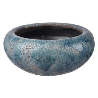 Blue Clay 11-inch x 5-inch Planter Pot