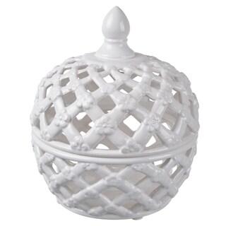 8-inch x 7-inch Lidded Jar