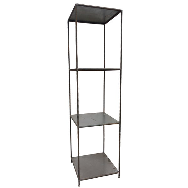 A and B Grey Iron Tall Shelf