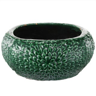 Green Clay 5-inch High x 12-inch Diameter Large Bangalore Planter