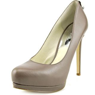 Michael Kors Women's 'Hamilton Pump' Grey Leather Dress Shoes